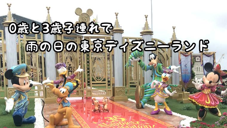 子連れ雨の日の東京ディズニーランド