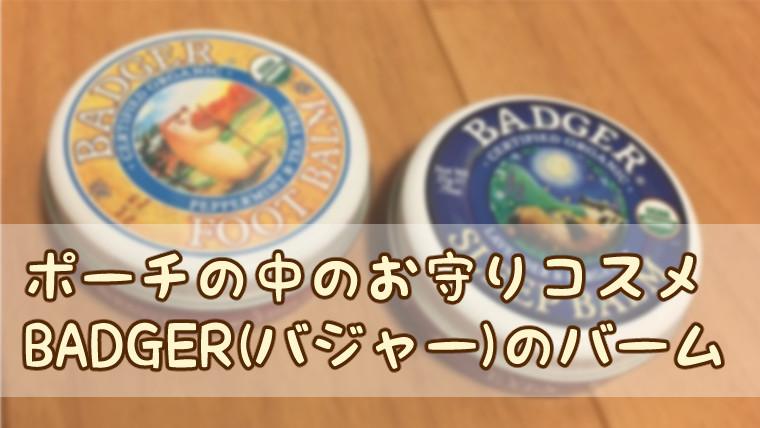 【iHerbレビュー】BADGER(バジャー)のBALM(バーム)
