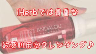 iHerbでは貴重な敏感肌用泡クレンジング