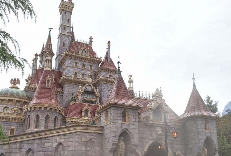 【TDL】雨の美女と野獣エリアお城