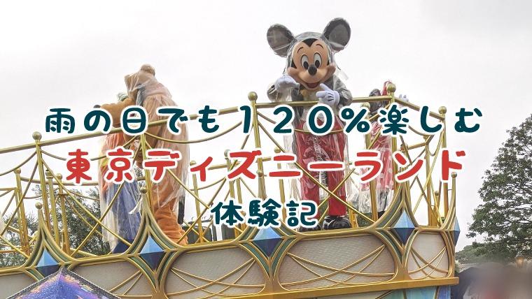 【TDL】雨でも120%楽しむ子連れ東京ディズニーランド